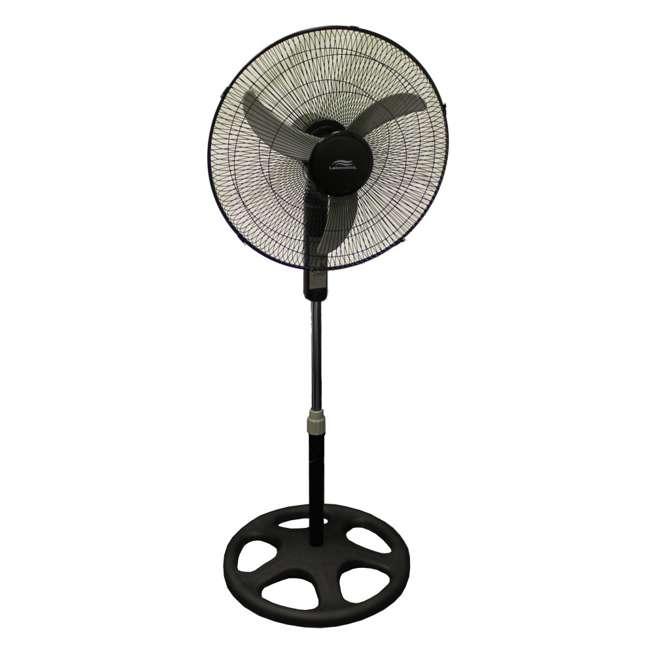 Durable Pedestal Fan : Lakewood inch oscillating floor fan lsf br