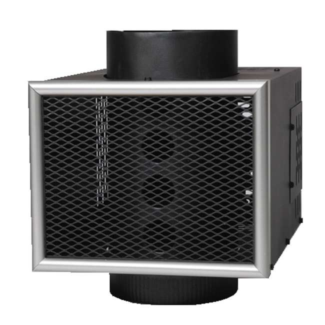 MH6 US Stove Company 6-Inch Miracle Heat Reclaimer Wood or Coal Stove Furnace, Black 1
