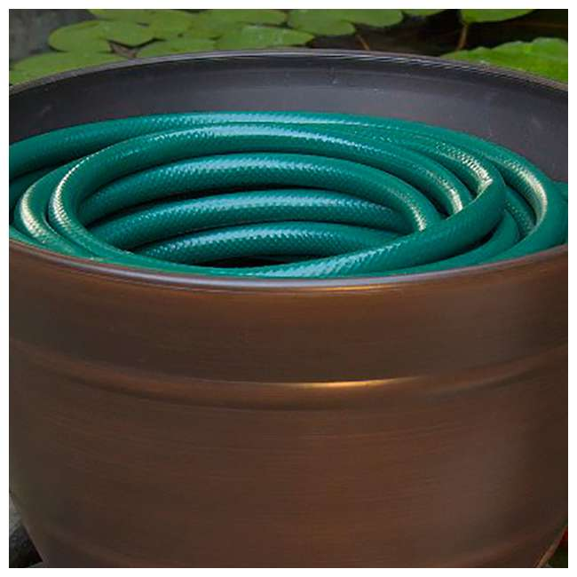 4 x LBG-1924 Liberty Garden Banded High Density Resin Hose Holder Pot with Drainage (4 Pack) 5