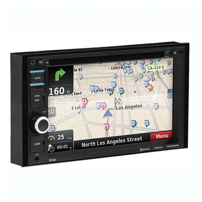 BV9382NV Boss Audio 6.2-Inch Double DIN Bluetooth CD/DVD Navigation Receiver