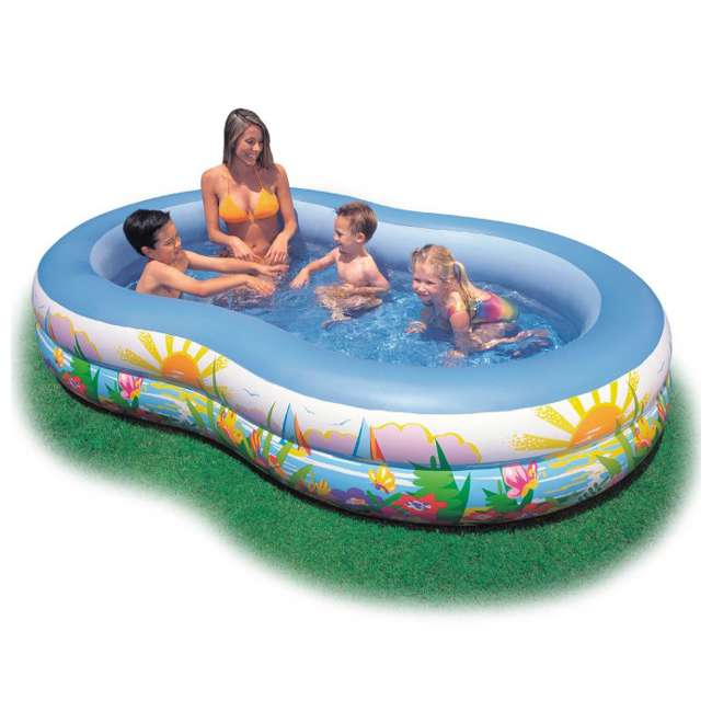 56490EP INTEX Swim Center Inflatable Paradise Kids Swimming Pool (Open Box) (2 Pack)