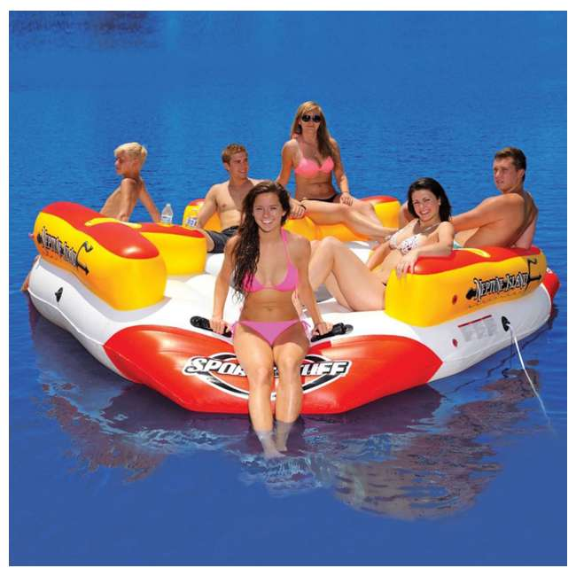 6 x 54-2030 Airhead Sportsstuff Neptune Island 6-Person Inflatable River Float (6 Pack) 2