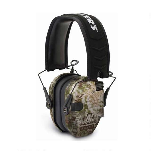 GWP-RSEM-KPT + GWP-REMSC Walkers Razor Slim Electronic Ear Muffs (Kryptek Camo) & Storage Carrying Case 1