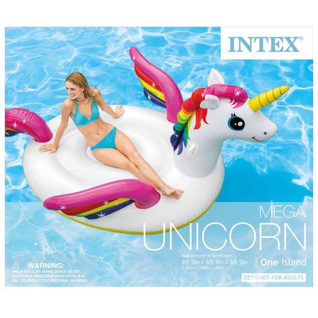 3 x 57281EP-U-A Intex  Giant Mega Unicorn Island Ride On Swimming Pool Float (Open Box) (3 Pack) 2