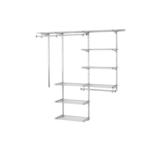 2060347-U-A Rubbermaid Configurations Closet Organizer 3'-6' Deluxe Kit, Titanium (Open Box) 1