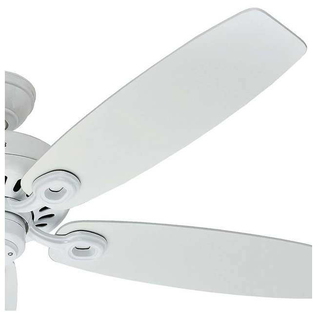 54108 Hunter Markham 52 Inch Indoor Ceiling Fan w/ 5 Blades and Pull Chain, Snow White 3