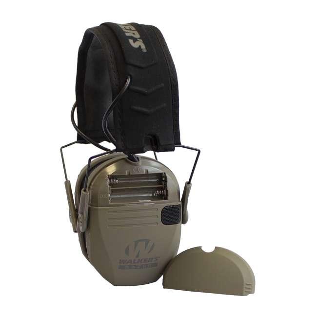 GWP-RSEM-MFDE + GWP-REMSC Walker's Razor Electronic Shooting Ear Muffs, Dark Earth & Storage Case, Black 2