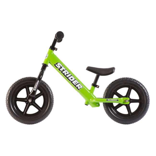 ST-M4GN + PSKISET-12-BK Strider 12 Classic Balance Kids 18 - 36 Months Bike, Green + Strider Snow Ski Set  2