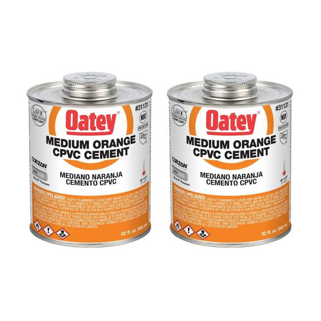 31131 Oatey 31131 32 Oz. CPVC Orange Solvent Cement (2 Pack)