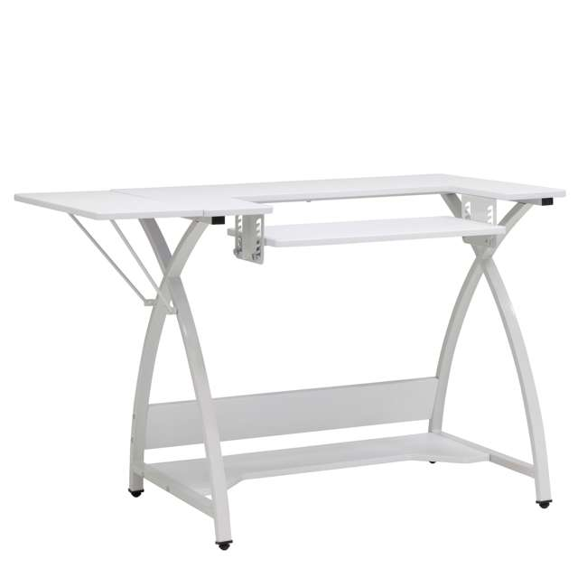 STDN-38017 Sew Ready STDN-38017 Venus Sewing Machine Craft Hobby Table Computer Desk, White
