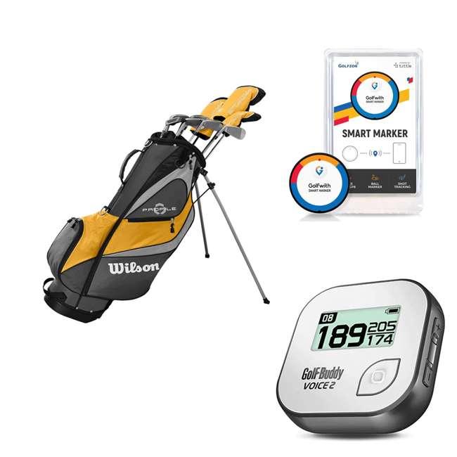 WGGC43700 + GB7-VOICE2-GREY + PGSMGps Wilson Profile XD Clubs, Golf Buddy RangeFinder, Golfwith SmartMarker