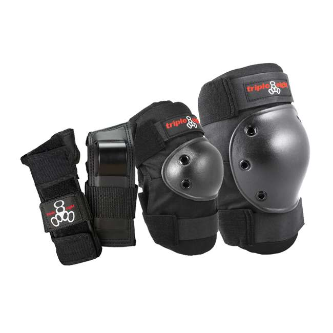 T8-604352-60013 Triple 8 Saver Series Wrist, Knees, & Elbows Protective Pads, Small 1