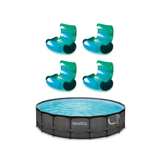 P4A02048B167 + 4 x K71071000167 Summer Waves Above Ground, Summer Waves Pool, LED Inflatable Rocking Chair (4)