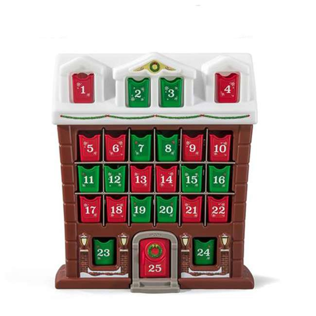 491700 Step2 My First Advent Month Calendar Snowy Holiday Cottage w/ Individual Bins