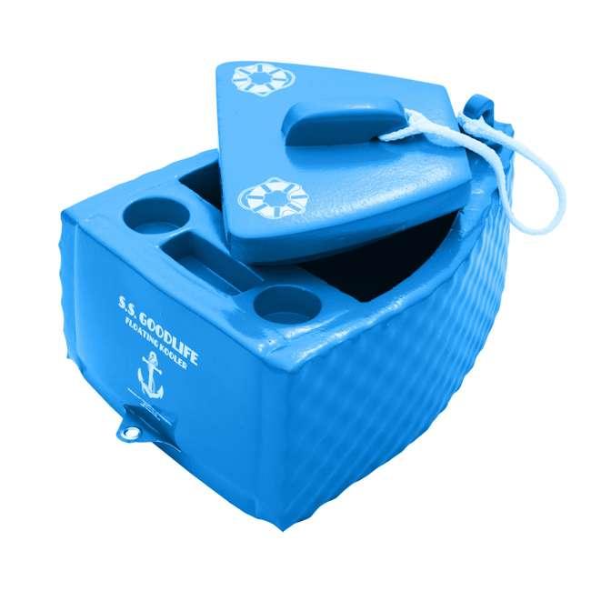 8841026 TRC Recreation Floating Super Soft Goodlife Drink Kooler for Pool/Hot Tub, Blue