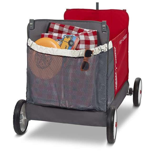 3965Z Radio Flyer Kid & Cargo 2 Seat Folding Wagon, Red 4