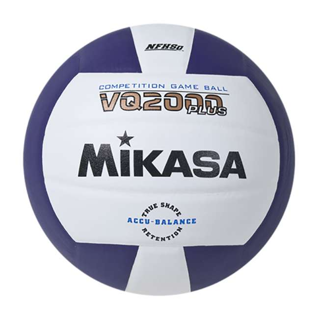 VQ2000-PUR Mikasa VQ2000 Indoor Competition Volleyball Game Ball (2 Pack) 1