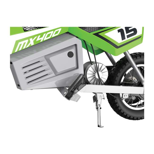 15128030 + 97775 + 96785 Razor Dirt Rocket MX400 Electric Moto Bike with Helmet, Elbow & Knee Pads 5