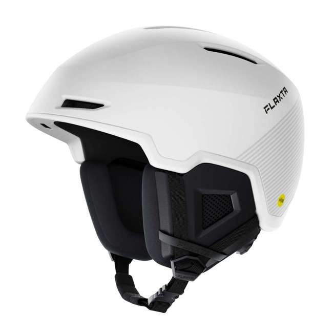 FX901002010ML Flaxta Exalted MIPs Protective Ski and Snowboard Helmet Medium/Large Size, White