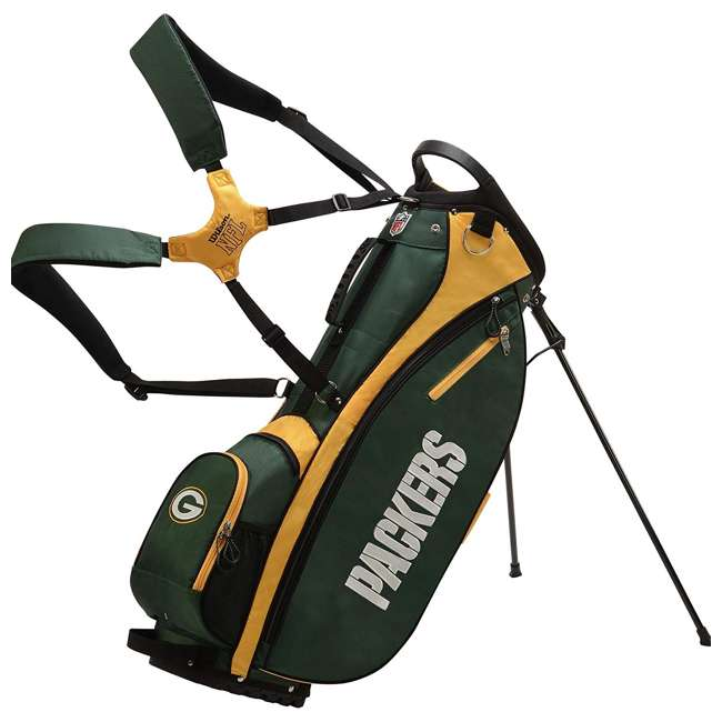 WGB9950GB Wilson 2018 NFL Carry Full Size Golf Club Bag with 8 Pockets, Green Bay Packers 2