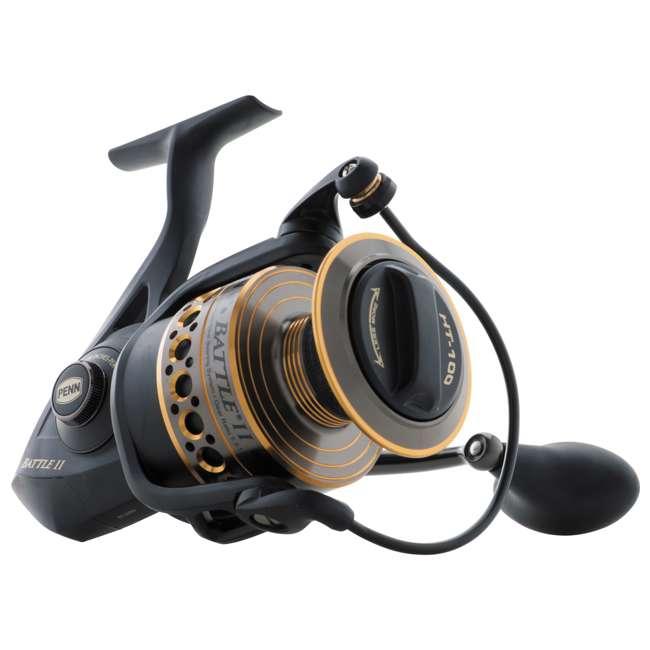 BTLII8000102H Penn BTLII8000102H Battle II HT100 Saltwater Spinning Fishing Reel and Rod Combo 2