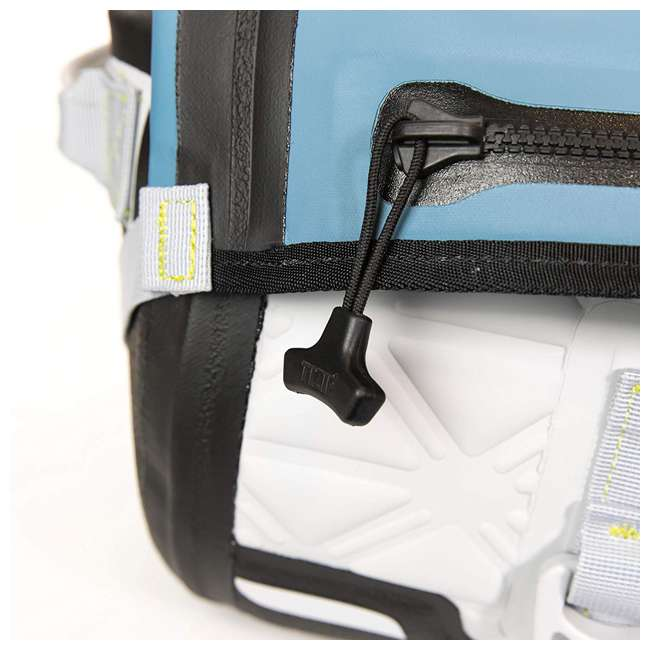 77-57796 Yampa 70 Liter Dry Duffle Waterproof Backpack Bag, Hazy Harbor Gray and Blue 4