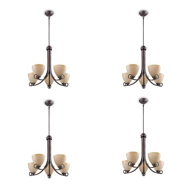4 x PLC-TK0024715 Philips Maurice Suspension Chandelier, Oiled Bronze (4 Pack)