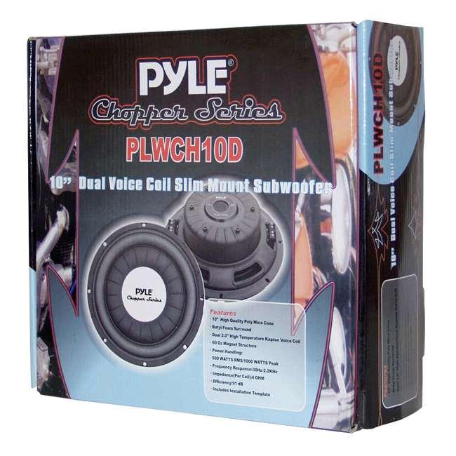 """PLWCH10D PYLE PLWCH10D 10"""" 1000W Slim/Shallow Mount Car Audio Subwoofer Sub Woofer DVC 4"""