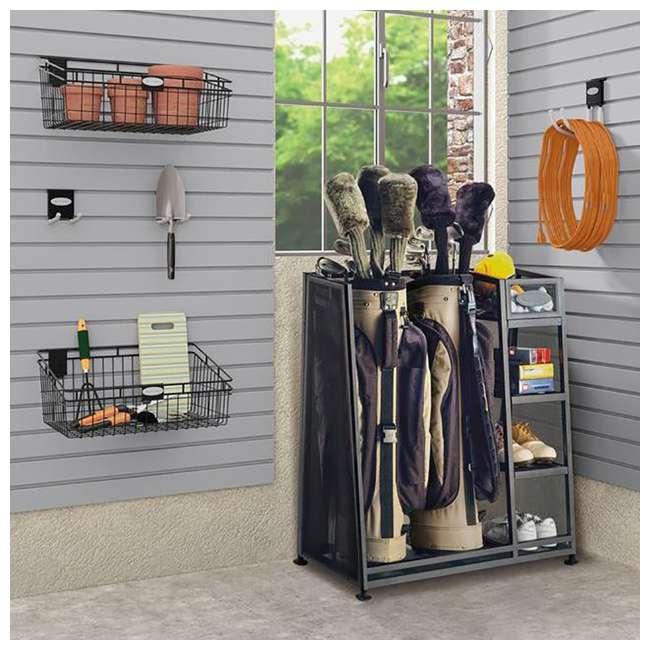 GO3216 Suncast Metal Golf Bag Organizer w/ 3 Shelves & Deep Bin (Open Box) (2 Pack) 1