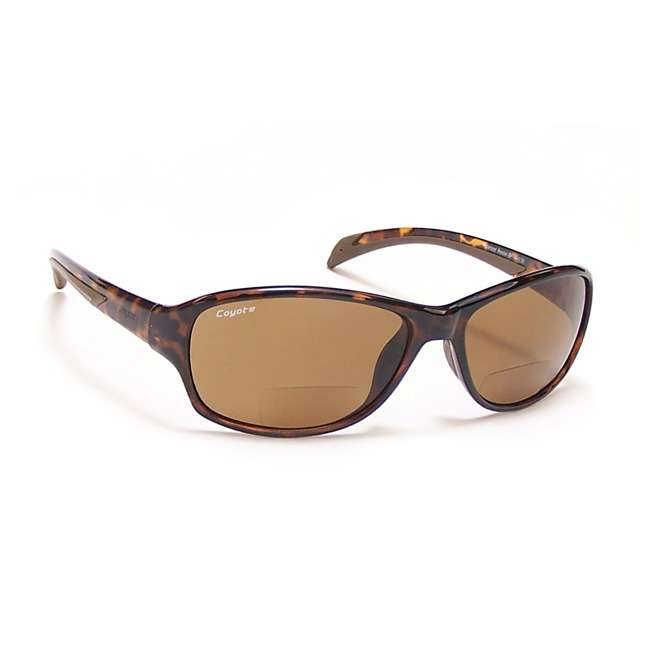 BP-14 +1.50 tortoise/brown Coyote Eyewear BP-14 +1.50 Polarized Reader Premium Sunglasses, Tortoise & Brown