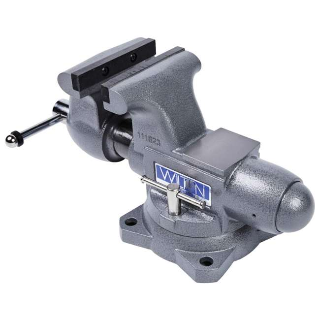JPW-28807 + WIL-20412 Wilton Swivel Base Bench Vise w/ 4 Pound Sledge Hammer 5