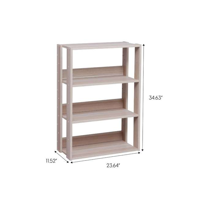 596228 IRIS USA 596228 Mado 3 Shelf Wide Open Wood Rack Shelving Unit, Light Brown