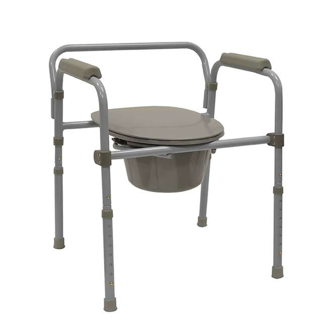 59024-COMMODE Bios Living Adjustable Deluxe Commode Portable Toilet 1