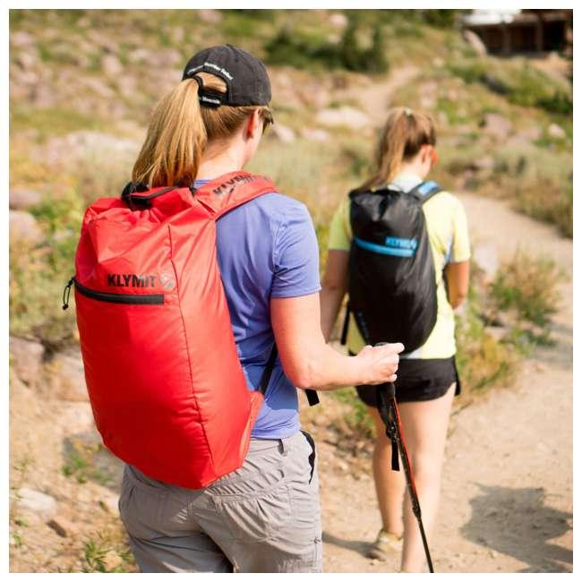 12STRD01C Klymit 20D Polyester Ultra-Lightweight Stash 18 Air Frame Day Backpack, Red 4