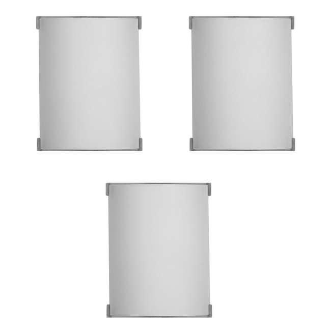 3 x PLC-F546036U Philips Forecast Edge Bathroom Wall Light, Satin Nickel (3 Pack)