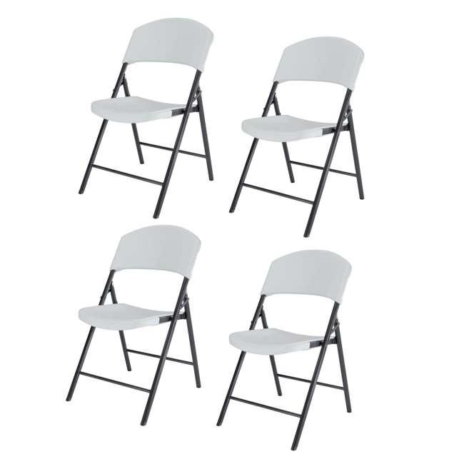 Fantastic Lifetime Plastic Folding Chair White 4 Piece 42810 Pdpeps Interior Chair Design Pdpepsorg
