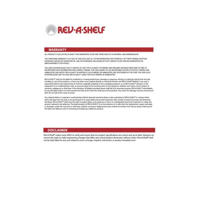 6472-32-11-52 Rev-A-Shelf 6472-32-11-52 32 Inch White Polymer Kidney Shaped 2 Shelf Lazy Susan 6