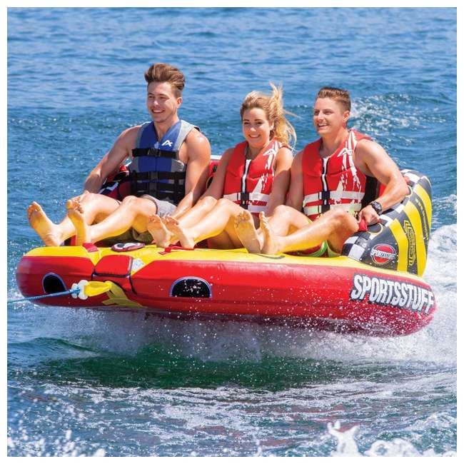 53-2225 Kwik Tek Super Mable HD 2-Person Towable Chariot-Style Inner Tube  1