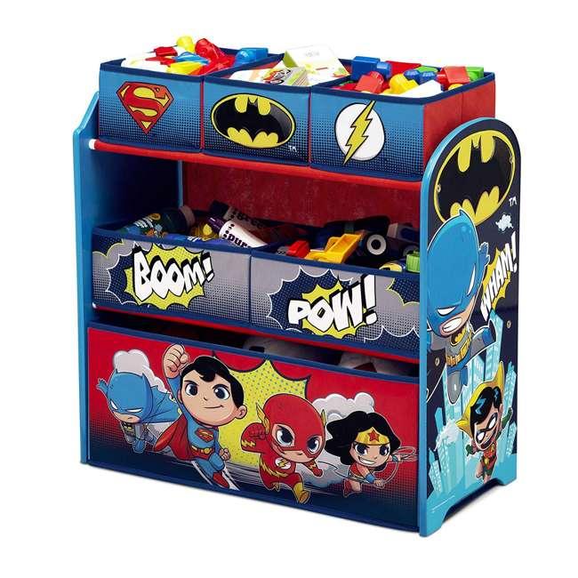 TB83438SP-1217 Delta Children DC Comics Super Friends Multi Toy Box Bin Wood Storage Organizer  1
