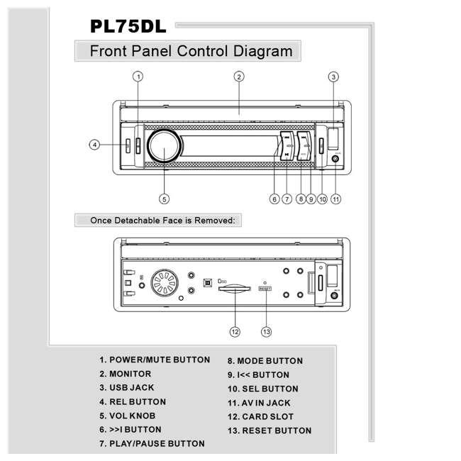 PL75DL Pyle PL75DL 7-Inch Lcd TouchScreen Usb/sd Aux Receiver 6