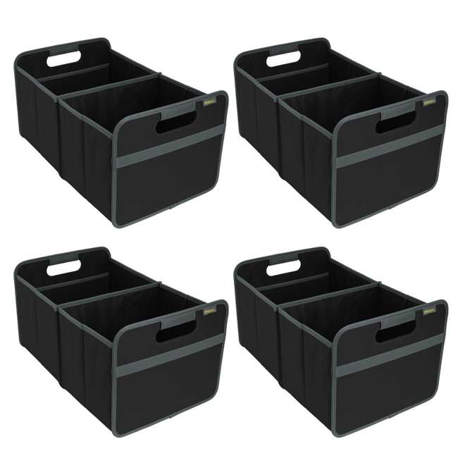 4 x A100001 Meori Classic 8-Gallon Large Storage Box, Lava Black (4 Pack)
