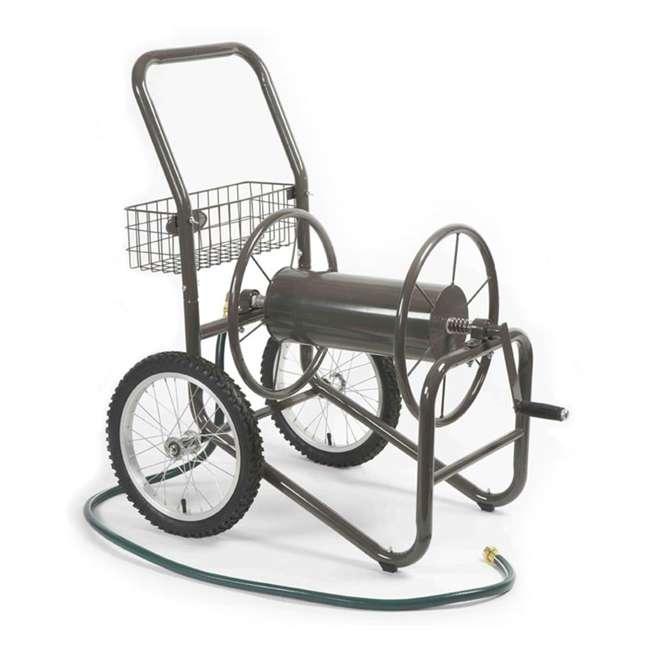 LBG-880-2 Liberty Garden 2-Wheel Steel Frame Water Hose Cart, Bronze (2 Pack) 1
