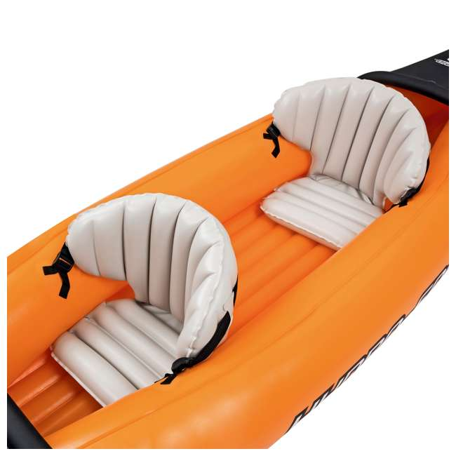 65077E-BW Bestway 126 x 35 Inches Lite-Rapid X2 Inflatable Kayak Float with Oars | 65077E 2