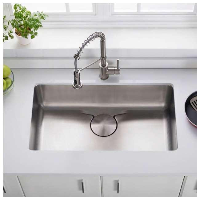 KD1US33B-OB Kraus Dex 33-Inch Undermount Single Bowl Stainless Steel Sink (OPEN BOX) 1
