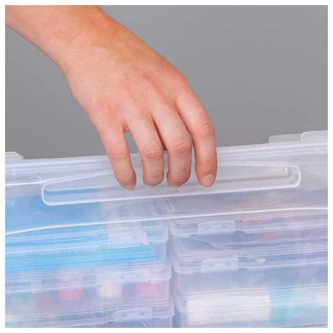 585140 IRIS 585140 5 x 7 Inch Large Photo Craft Keeper Storage Box Organizer, Clear 4