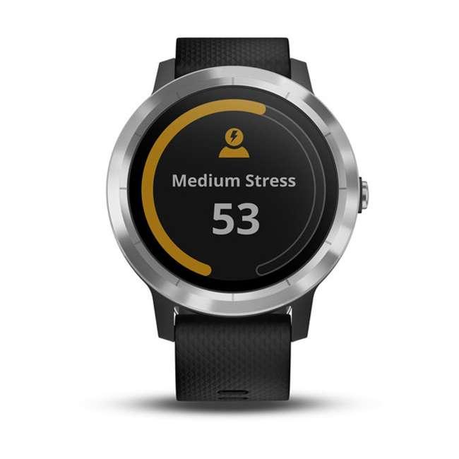 010-01769-01 Garmin Vívoactive 3 Active Smartwatch, Black with Silver 5