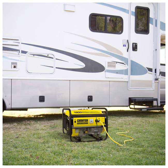 CPE-GN-42436-U-C Champion 1200 Watt Recoil Start Gas Powered Home & RV Generator (For Parts) 2