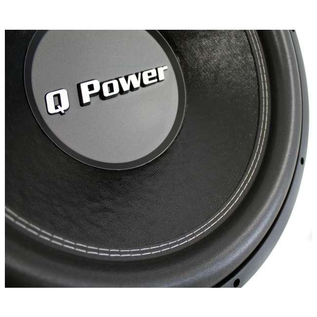 """QPF15 + QBASS15 2) Q-POWER QPF15 15"""" 2200W Deluxe DVC Subwoofers + Vented Enclosure 4"""