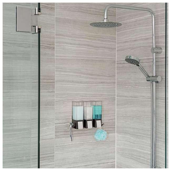 77384 Better Living CLEVER Luxury Shower/Bath Liquid Wall Dispenser, Black/Chrome 4