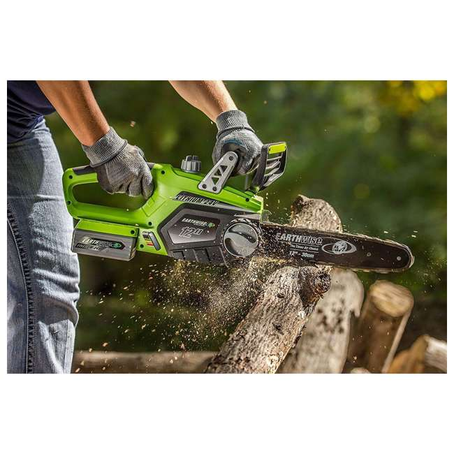 LCS32412 Earthwise 12-Inch 24-Volt Cordless Battery Powered Chainsaw 1